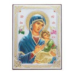 Ikona srebrna Matka Boska Nieustającej Pomocy 31187DA