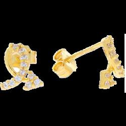 Kolczyki złote sztyft pr. 585 zagubiona strzała ZA019