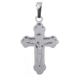 Krzyżyk srebrny z wizerunkiem Jezusa MO048