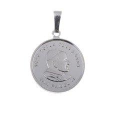 M100 Medalik srebrny - Święty Jan Paweł II