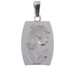 M110 Medalik srebrny komunijny dziewczynka