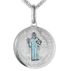 Medalik srebrny (1,7 g) - Medalik Świętego Benedykta  MK040