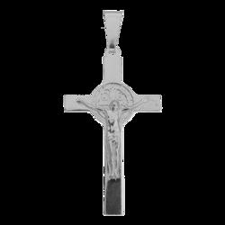 Medalik srebrny - Krzyżyk z wizerunkiem Jezusa MO155