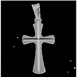 Medalik srebrny diamentowy - Krzyż MKD013