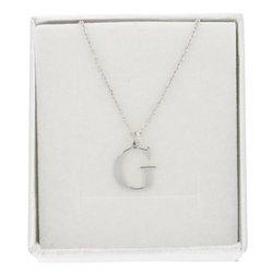 Naszyjnik celebrytka literka G 1,0 cm srebro rodowane pr 925 CELG1CM