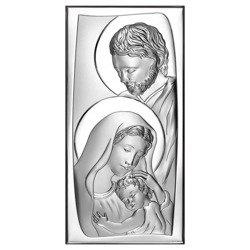Obrazek Srebrny Święta Rodzina drewniana ramka 6547