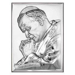 Obrazek srebrny Papież Święty Jan Paweł II 6287