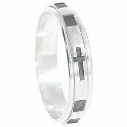 Różaniec srebrny, dziesiątka, obrotowa obrączka na palec wąska, rozmiar 11-27  Srebro pr. 925 RPO04