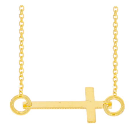 Celebrytka złota naszyjnik z krzyżykiem krzyżyk ZCEL002
