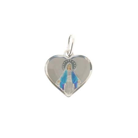 Medalik srebrny (1,1 g) - Matka Boża Niepokalana Cudowny medalik MK001