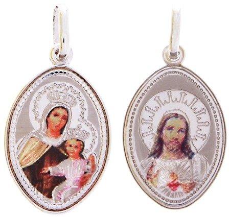 Medalik srebrny (2,0 g) - Szkaplerz Najświętszej Maryi Panny z Góry Karmel ( Szkaplerz ) MK004