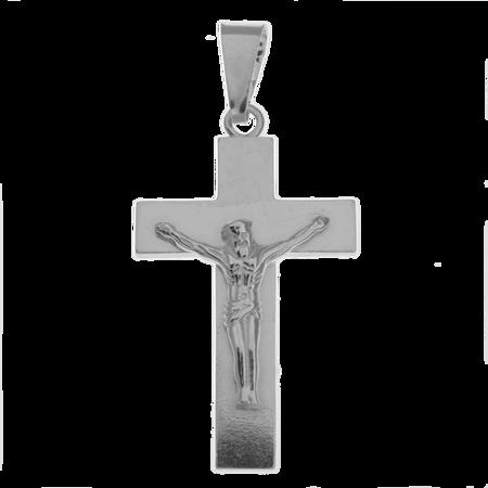 Medalik srebrny - Krzyżyk z wizerunkiem Jezusa MO130