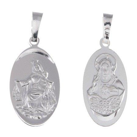 Medalik srebrny - Matka Boża Szkaplerzna Szkaplerz M025