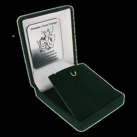 Pudełko flokowe z indywidualnym grawerem zielone P7/FLOKZIEL