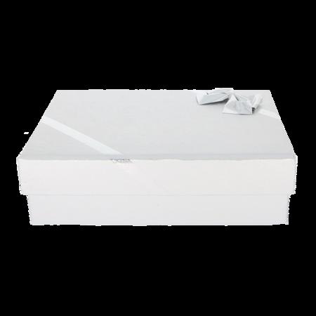 Pudełko na naszyjnik z kokardą srebrne P40/5SREBRNE