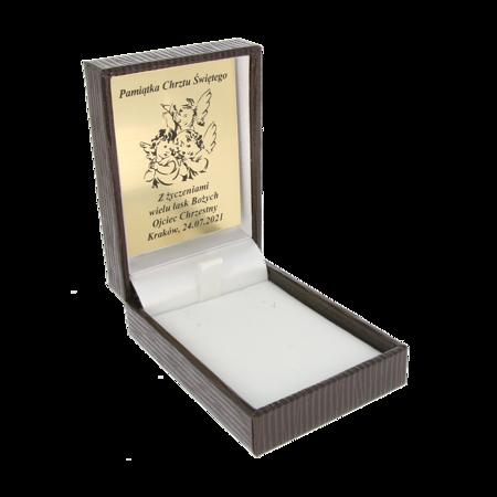 Pudełko skórzane brązowe PDH-3/A21/GZ