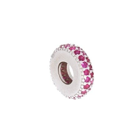 Srebrna przywieszka pr 925 Charms obrączka róż cyrkonie PAN026