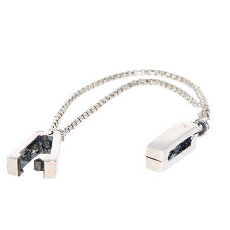 Srebrna przywieszka pr 925 Charms płaski podwójny łańcuszek PANP027