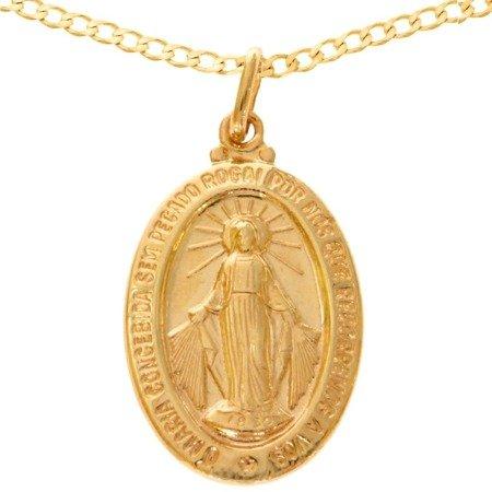 Zestaw złoty pr. 585 medalik z łańcuszkiem ZM004/ZL019-45