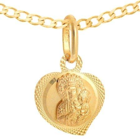 Zestaw złoty pr. 585 medalik z łańcuszkiem ZM030/ZL019-45
