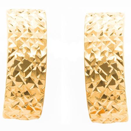 Złote kolczyki pr. 585 diamentowane III (angielskie zapięcie) ZA072