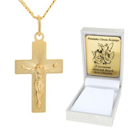Złoty łańcuszek z krzyżykiem pr. 585 ZK050/ZL013-45/PZH-3/A1/GZ