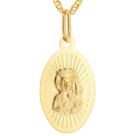 Złoty medalik pr. 585 Matka Boska Częstochowska  ZM093
